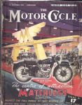 MOTOR CYCLE - MOTORCYCLE MAGAZINE - LONDON SHOW GUIDE - 13TH NOVEMBER 1952 - M2324